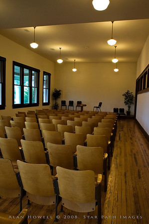 Historic Jamestown Library auditorium.