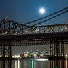 Super Moon Over The Bay<br /> <br /> Here is another shot of the Super Moon this past May. I kind of like the Evergreen shipping ship, that was all lit up better then the moon :)<br /> <br /> Canon 7D<br /> Canon 70-200mm f/4 L<br /> ISO 100<br /> f/10<br /> 15 Seconds