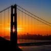 *The Golden Sunrise Star*<br /> Today I decided to finally get back up for a sunrise shoot. It is a rare thing for me! But always worth it and it sure was a beautiful morning. And because it is winter here, the sun position was perfect right through the tower! I met up this morning with the bridge master himself +Joe Azure, +Michael Bonocore and even +Todd Sipes in his slacks. It was great to also finally meet +Casey McCallister as here was out here from Colorado.