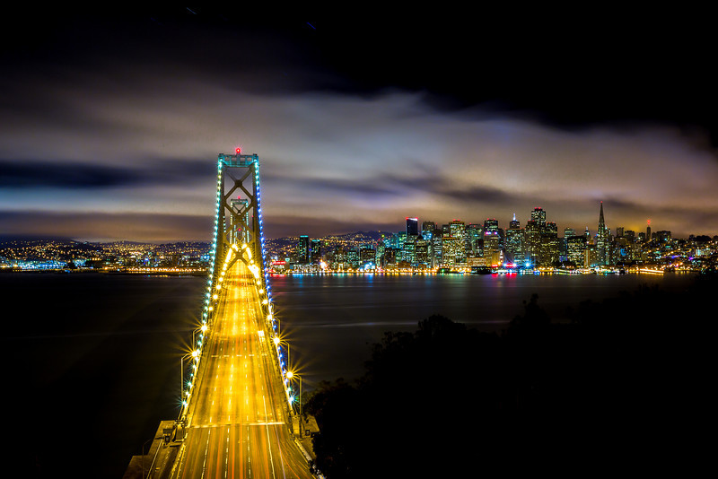 The Best Drive In - San Francisco Skyline<br /> <br /> Canon 5D MK III<br /> Canon 17-40mm f/4 L<br /> ISO 100<br /> f/22 180 Seconds
