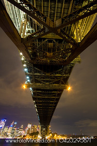 Under the Sydney Harbor Bridge. Shot from Milsons Point