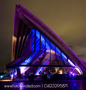 Sydney Opera House - shot during Vivid Sydney - Festival of Lights celebrated every year in Sydney illuminating the historic monument with colorful laser lights
