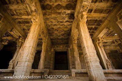 Supporting Pillars of Tarasuram Airavateshwarar temple Mandapa, India The temple is located right next to the Big temple of Tarasuram.  Photography: Karthik TK