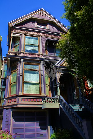 The Grateful Dead house, the Haight and Ashbury district, San Francisco California.