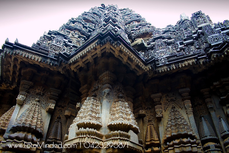 Chennakeshava temple, Somanathapura, India, is in a triangular shape consisting of 100s of small elephant statues. An important thing to note here is that, none of them are same in appearance.