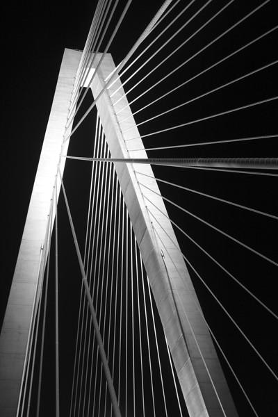 Ravenel Bridge detail, Charleston, South Carolina