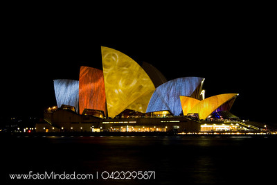 There is no doubt that the Sydney Opera House is a masterpiece. It is one of the great iconic buildings of the 20th century, an image of great beauty that has become known throughout the world – a symbol for not only a city, but a whole country and continent.  Shot this during Festival of Lights in Sydney - Vivid Sydney 2010