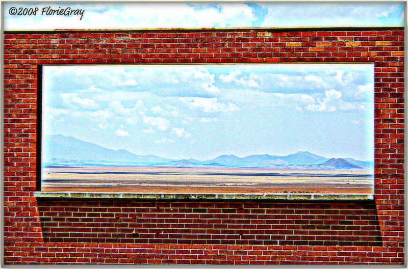 American Tune (Window to Rt. 66)  ©2009 FlorieGray   <b>Not to be reproduced without the written permission of Florence T. Gray</b>