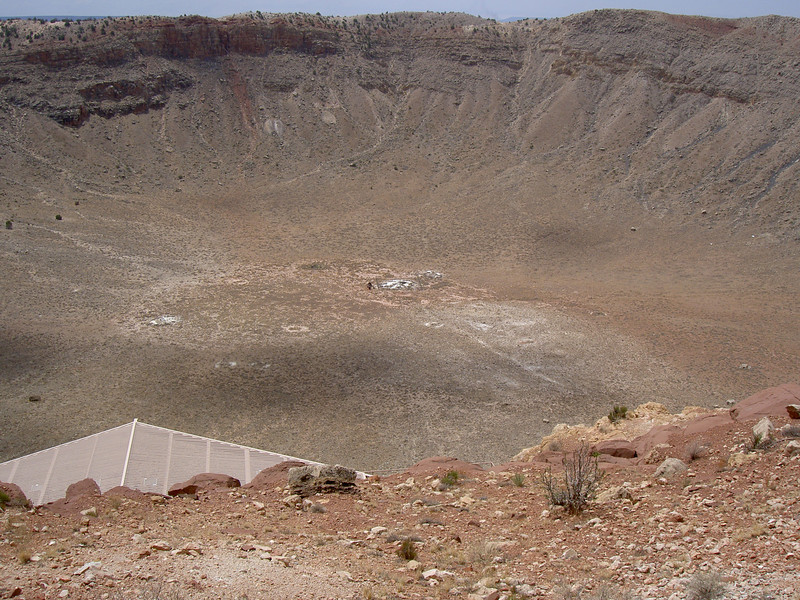 Detail, Meteor Crater, Arizona<br /> The crater is unbelievably huge.
