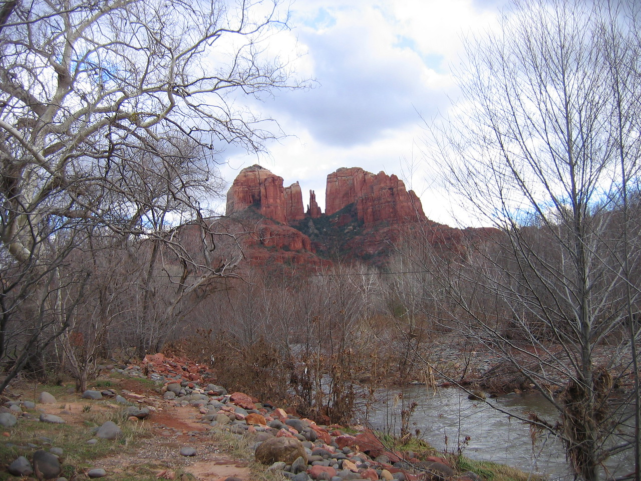 Beautiful Cathedral Rock <br /> Taken from Crescent Moon Beach, near Sedona, Arizona