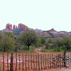 Lovely Fence, Boynton Canyon, AZ <br /> Note Cathedral Rock in background