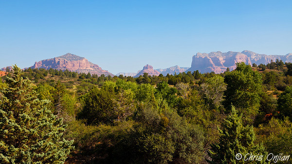 View of Sedona from the south ranger station
