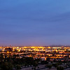 View of Phoenix and the Airport just before sunrise