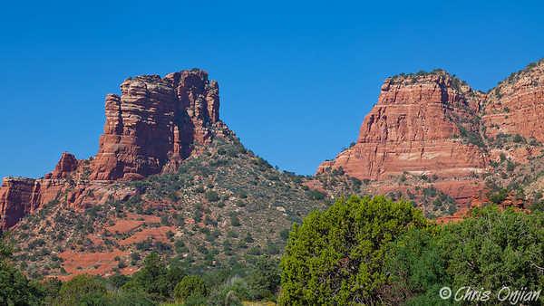 Rock formations near Bell Rock