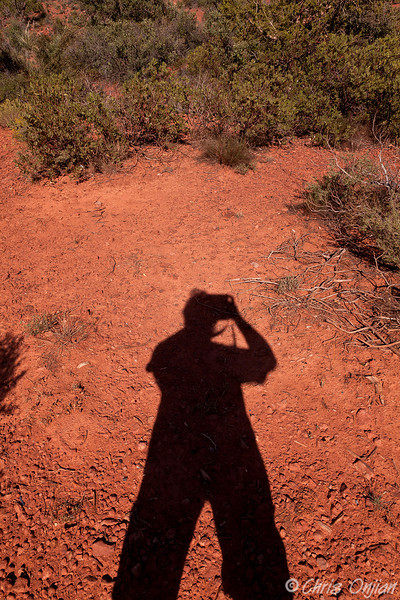 Self portrait in the red dirt.