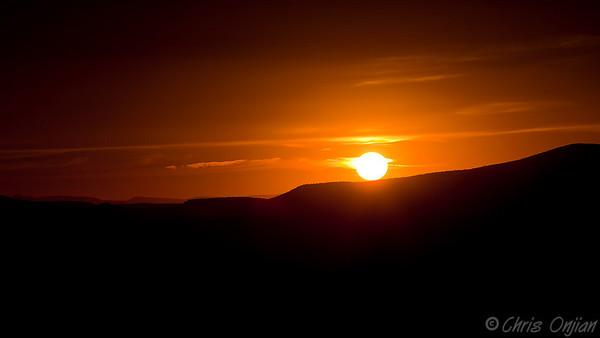Sunset. Taken from Airport Mesa.