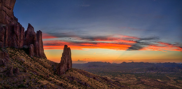 046 - Superstition Buttes Sunset