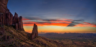 Superstition Buttes Sunset