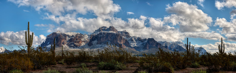Snow in the Desert, Superstition Mountains, Arizona