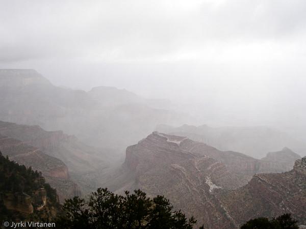 Rain in Grand Canyon - Arizona, USA