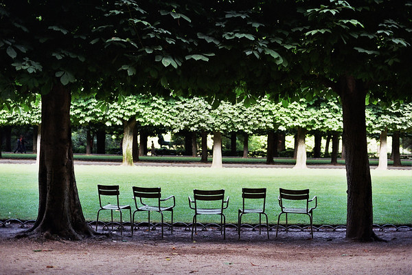 Chairs in the Park, Paris