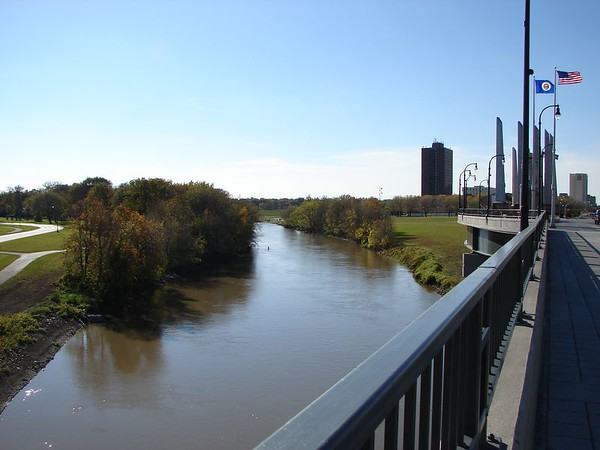 The view South of the Red River.