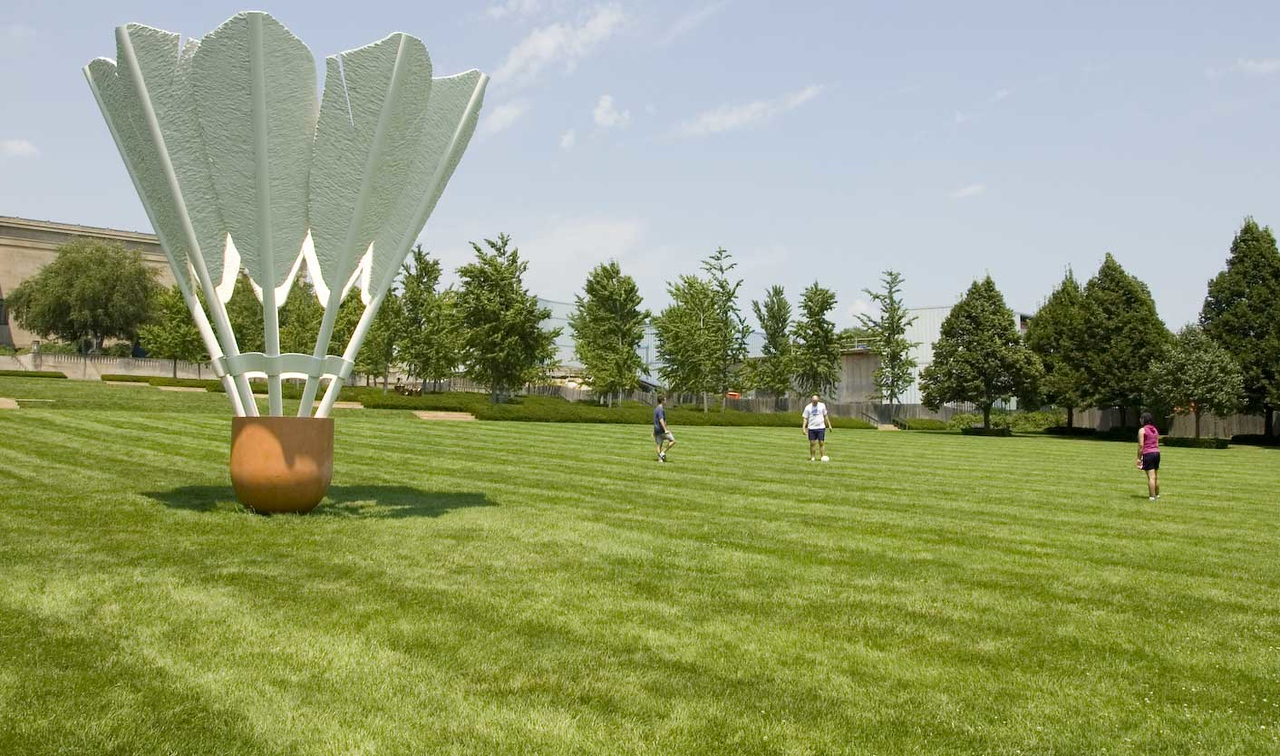 Shuttlecock on the Nelson Atkins Museum lawn.