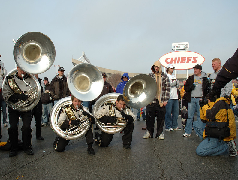 Marching Mizzou at Arrowhead for MU's annual thrashing of KU.