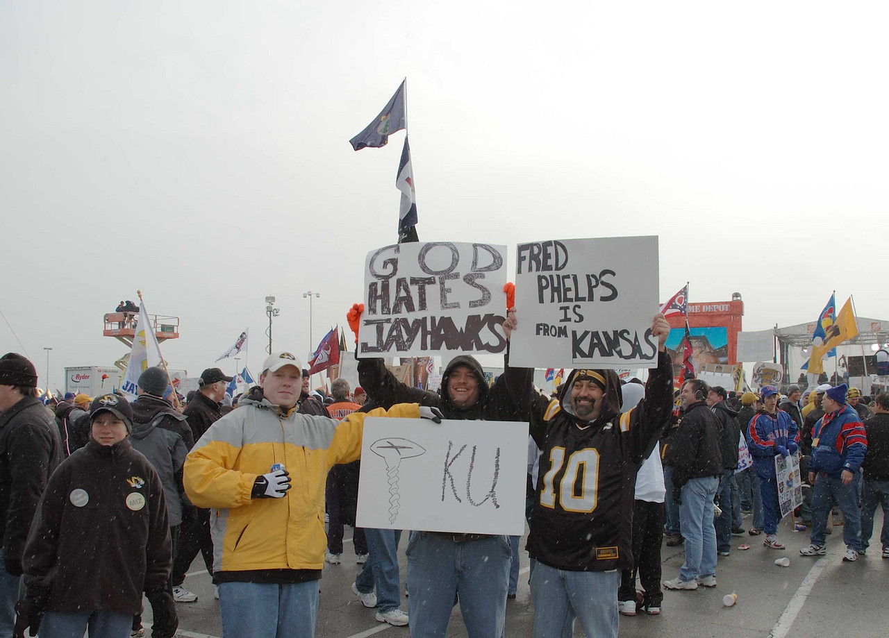 MU fans at Arrowhead for MU's annual thrashing of KU.