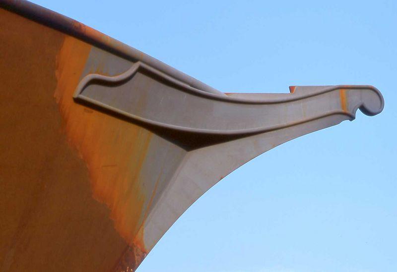 Rusty boat hull, Independence Missouri.