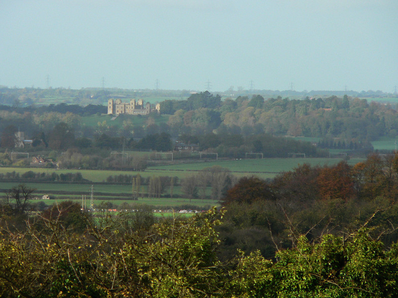 Mentmore Towers in the distance