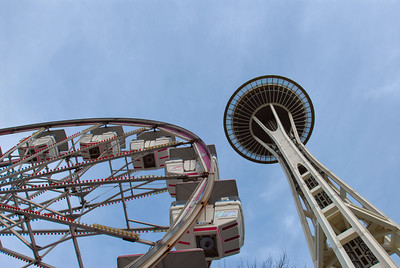 I spent a couple hours running around seattle center.  So here come the space needle photos!