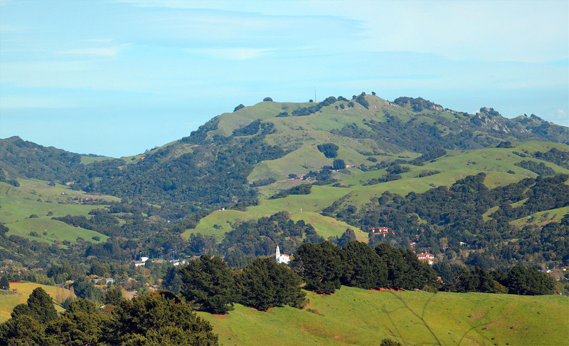 Saint Mary's College and Las Trampas from Mulholland Open Space