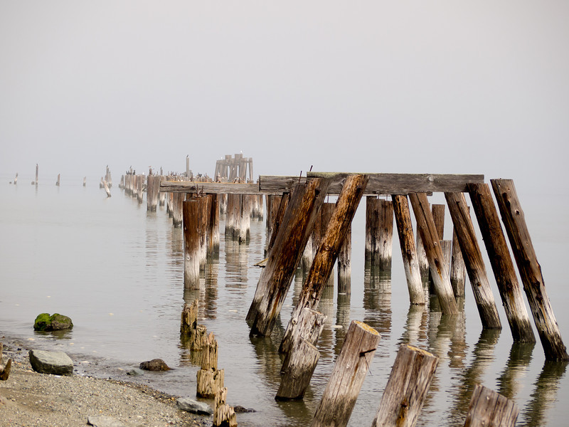 Old Jetty at Point Pinole - was used by Giant Powder Company (explosives)