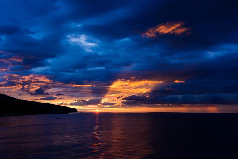 Beautiful sunrise in Yalta, Ukraine