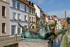 Pig statues in Wismar, Germany