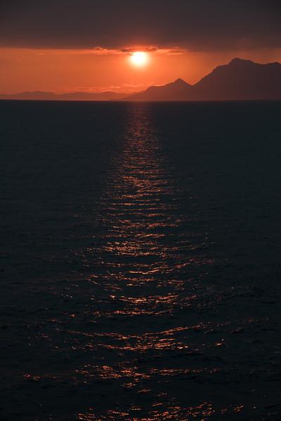 Sunset near Makarska, Croatia