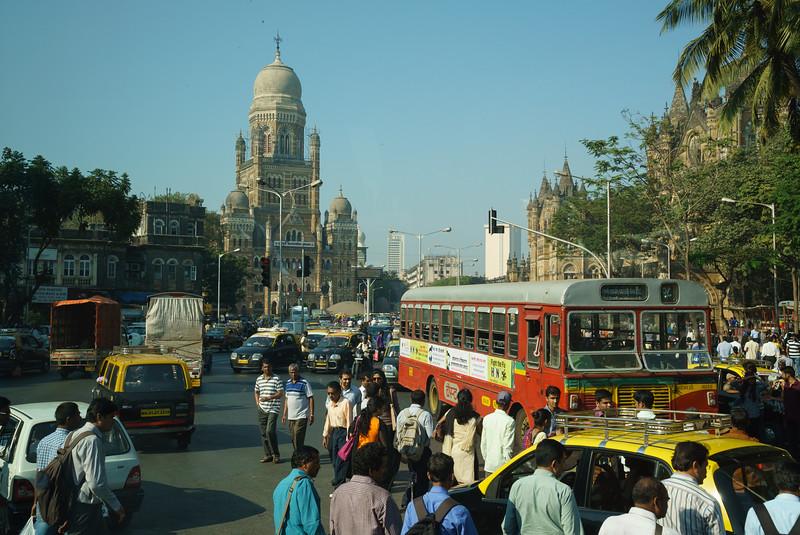 Busy streets in Mumbai, India