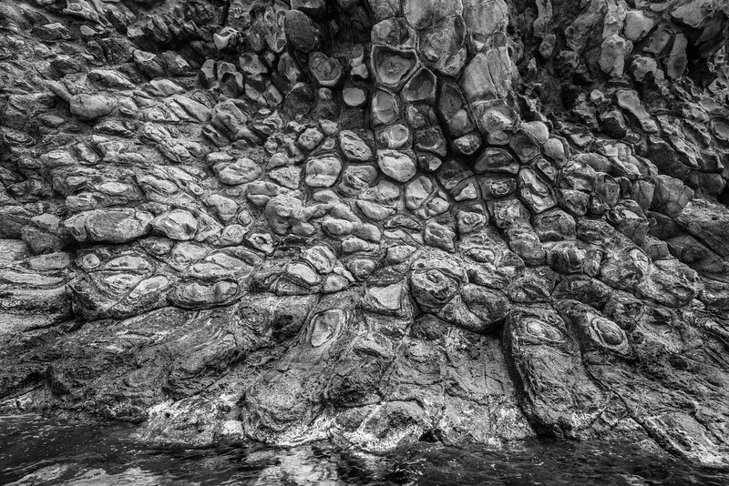 PIllow lava. When magma meets ice. Ponza, Italy