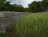 Old farmstead an native stone wall south of Alma, Kansas