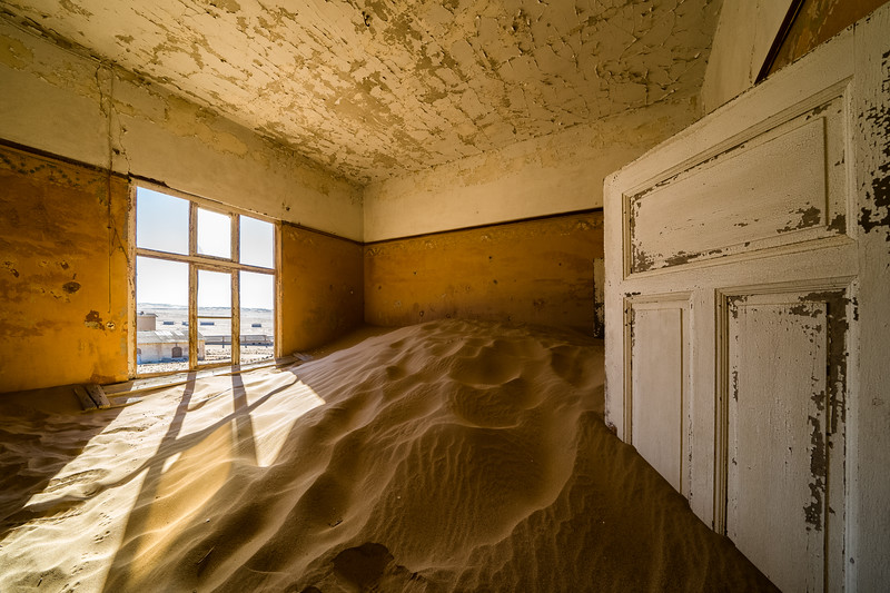 The abandoned town of Kolmanskop, Namibia