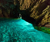 Inside a grotto near Ponza, Italy