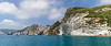 Colorful geology of Ponza, Italy