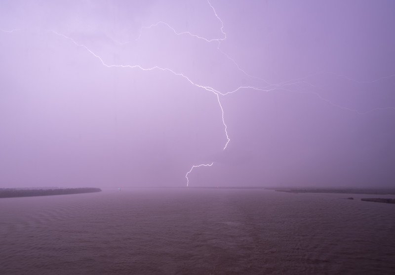 Lightning on the Mississippi River