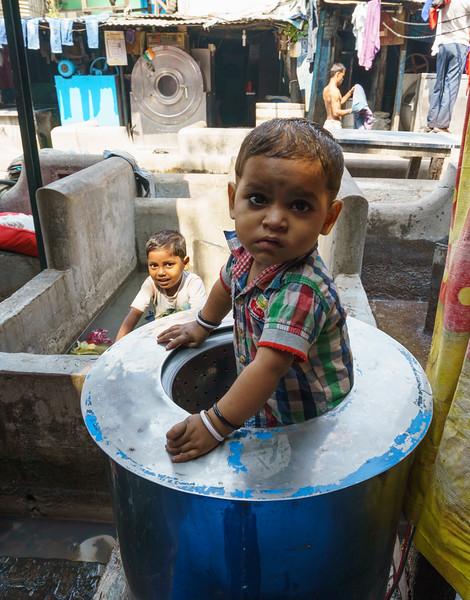 Dhobi Ghat. World's largest laundry in Mumbai, India.