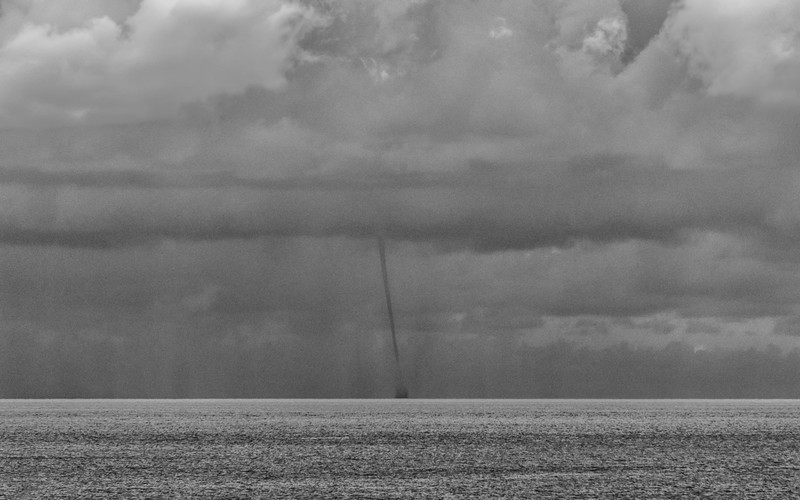 Distant Waterspout near Bimini, Bahamas