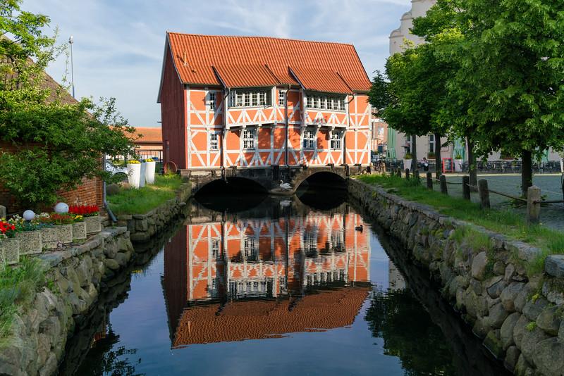 Beatiful old mill in Wismar, Germany