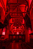 Red filter art exhibit at De Oude Kirk, Amsterdam, Netherlands