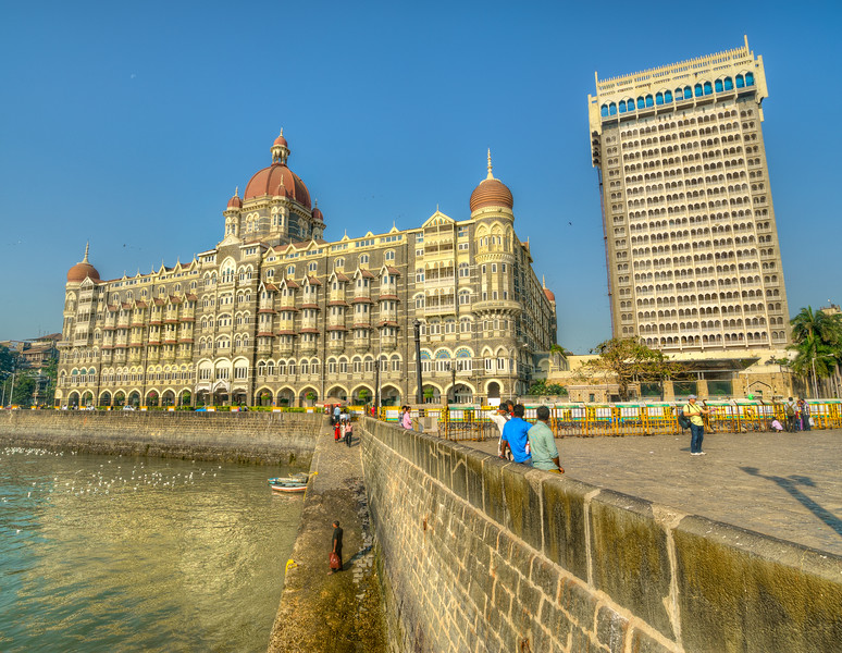Taj hotel in Mumbai, India which was attacked by terrorists in 2008.