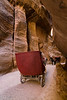 The narrow Siq that leads into the ancient city of Petra, Jordan